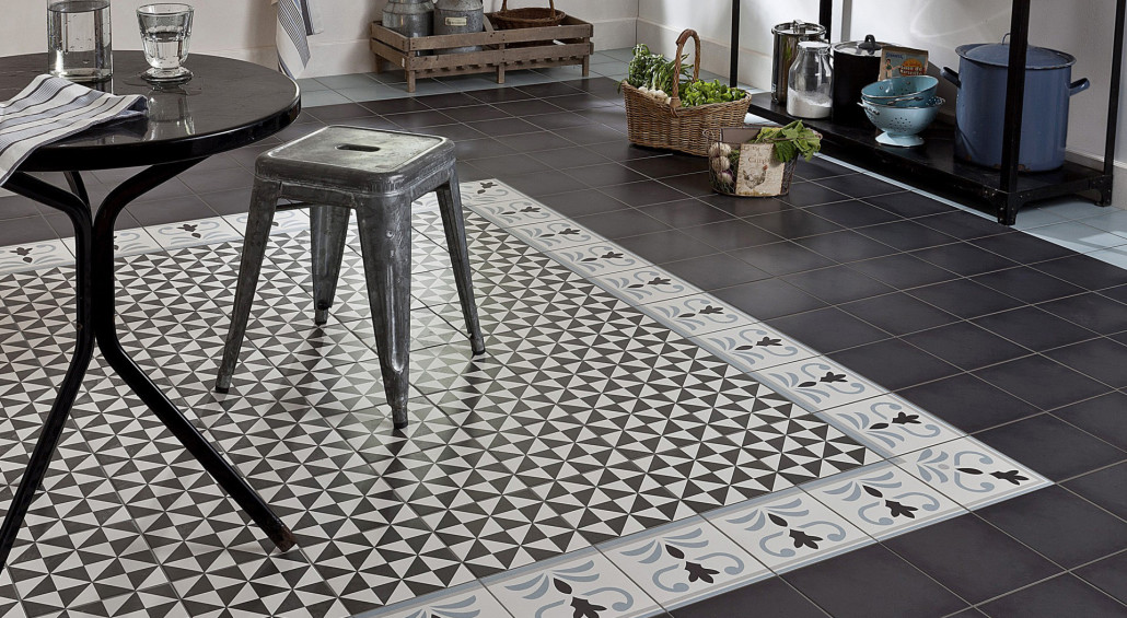 Carrelage Imitation ciment - Crédit photo : Travaux